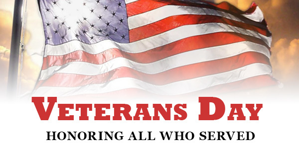 Veterans Invited for Veterans Day Programs