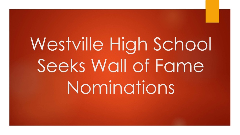 WHS Seeks Wall of Fame Nominations