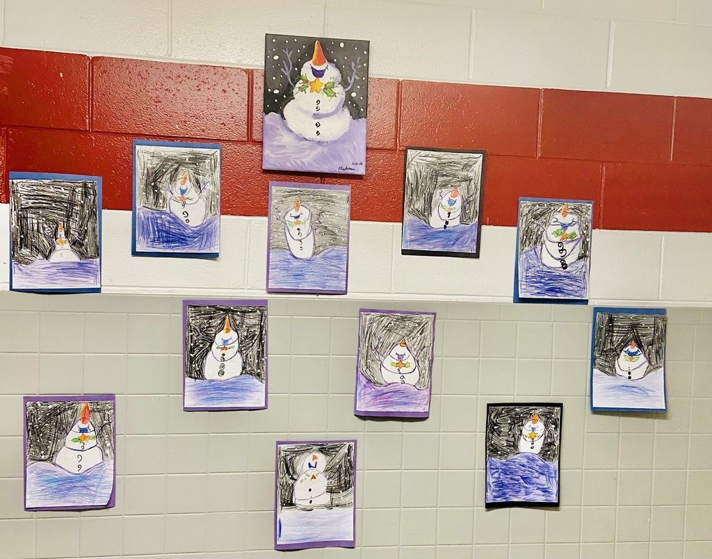 Mrs.Pog's winter art.