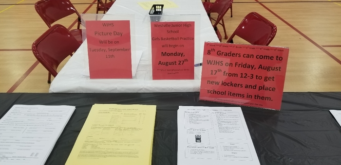 WJHS Registration Table