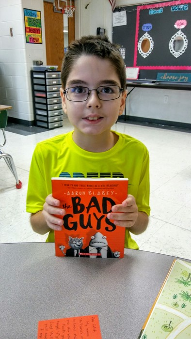 """I love chapter books! This is my best book."""