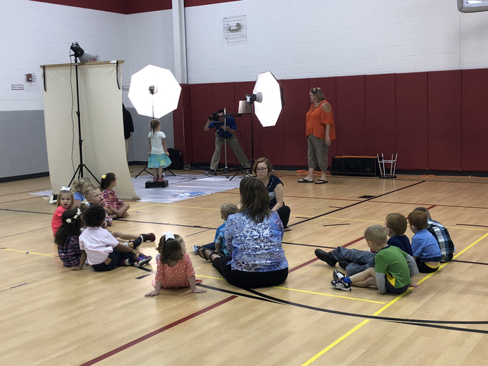 Pre-K getting their pictures taken!
