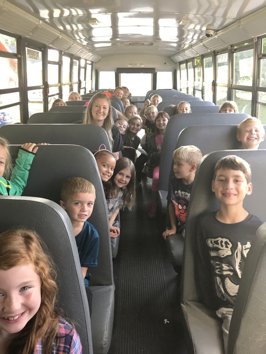 Ready for our field trip to the Curtis Apple Orchard!!