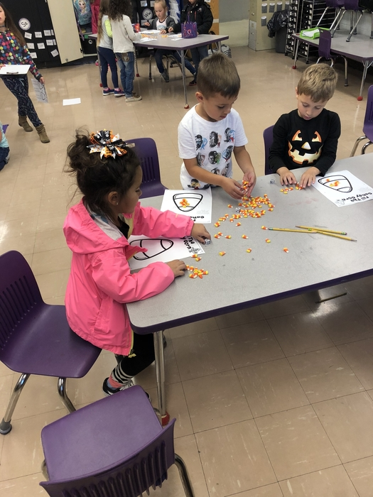 Candy corn stations
