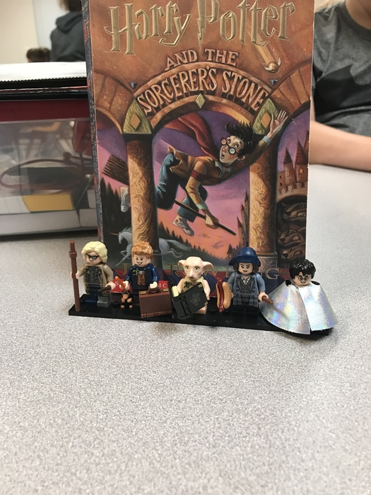 A student bringing in his Harry Potter Lego's for our book reading! #kidsareawesome #excited #HPforthewin