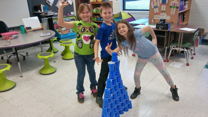 Math cup stacking challenge!