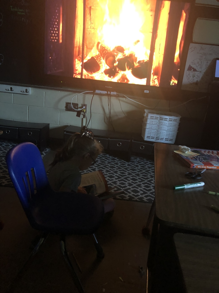 Reading by the fire!