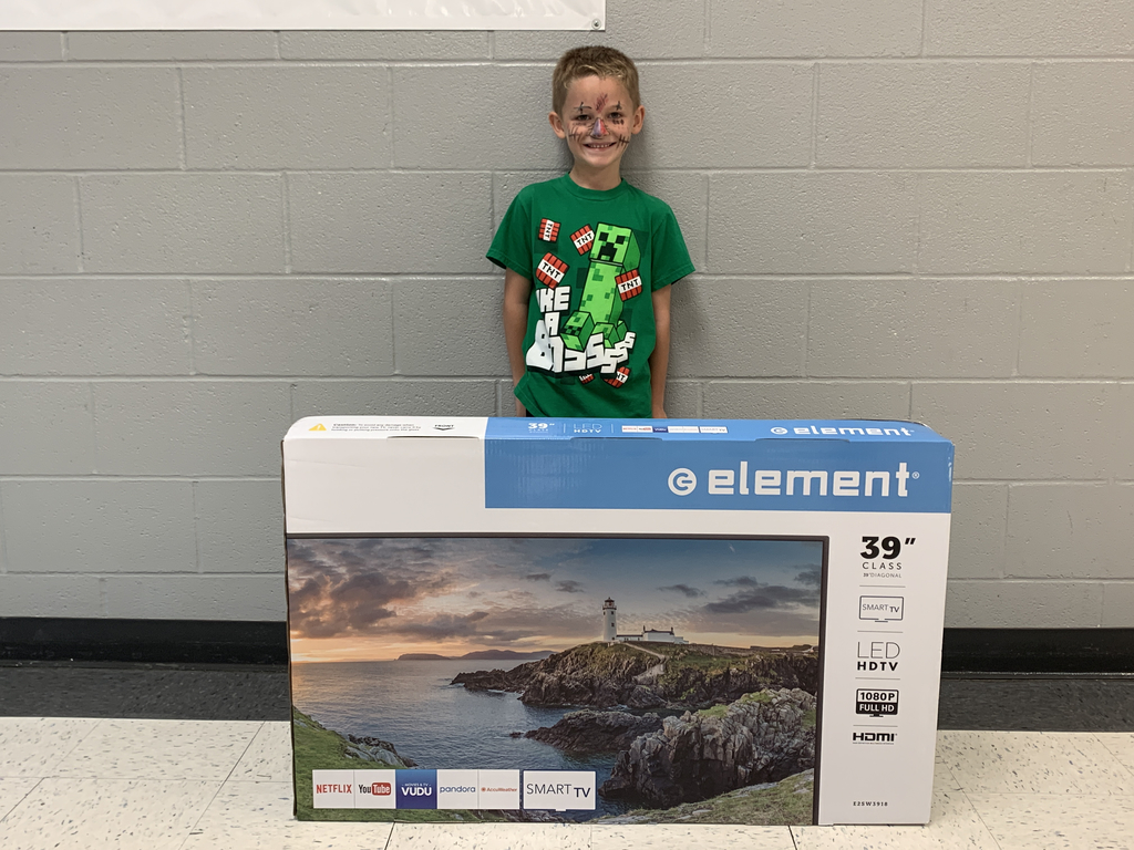 "Winner of a 39"" tv!"