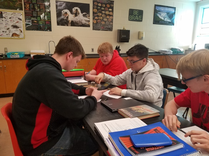 These gentlemen are hard at work in Physics!