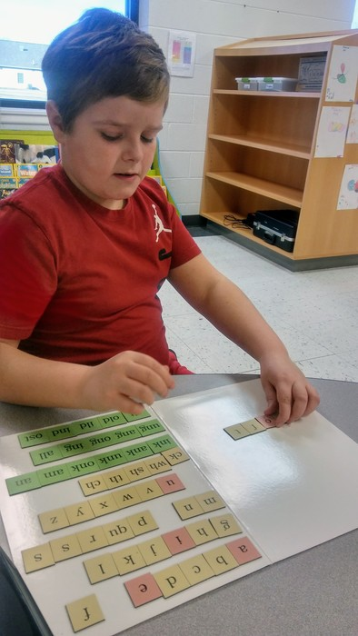 Spelling with magnets!