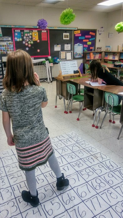 Finding missing numbers using the math mat!